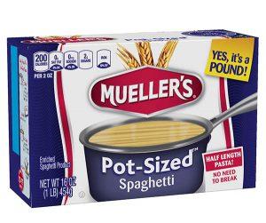 Pot Sized Pasta Mueller S Pasta