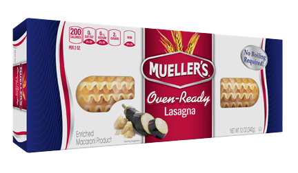 405803_MUE_12ozORLsgn_3D 100% Semolina Oven Ready Lasagna