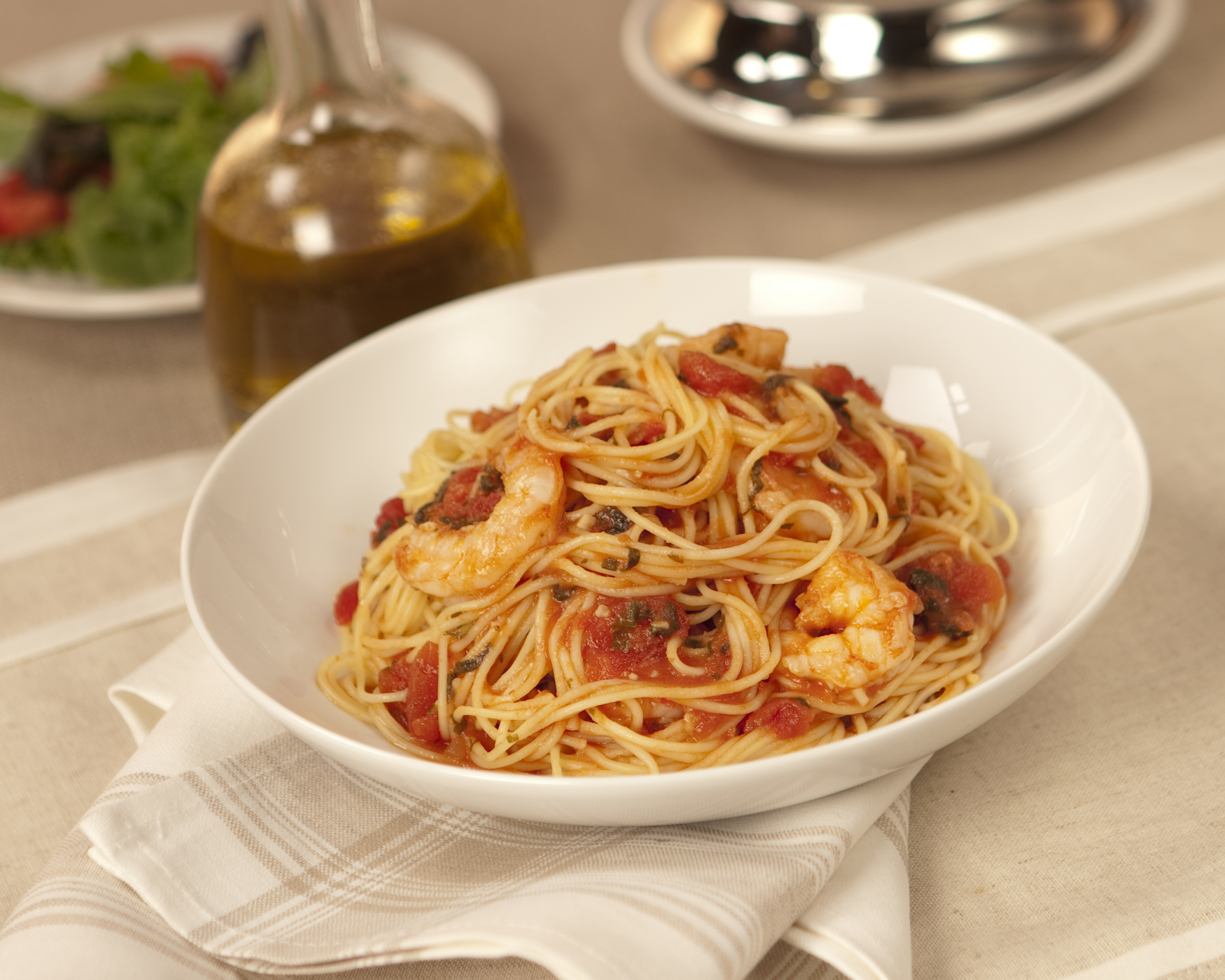 Angel Hair With Shrimp And Fresh Basil Mueller S Recipes