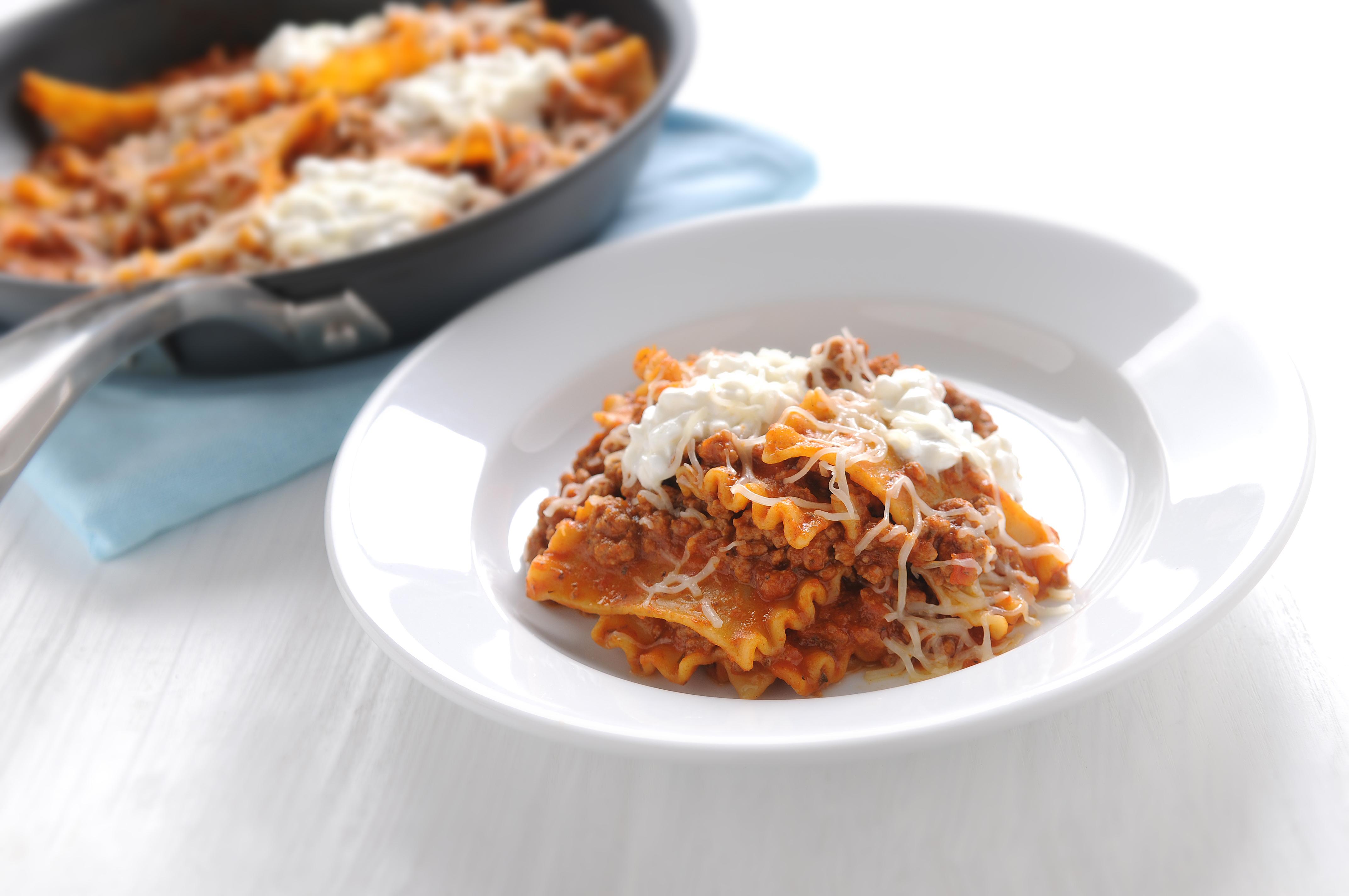 Italian Skillet Lasagna Mueller S Recipes Mueller S Pasta
