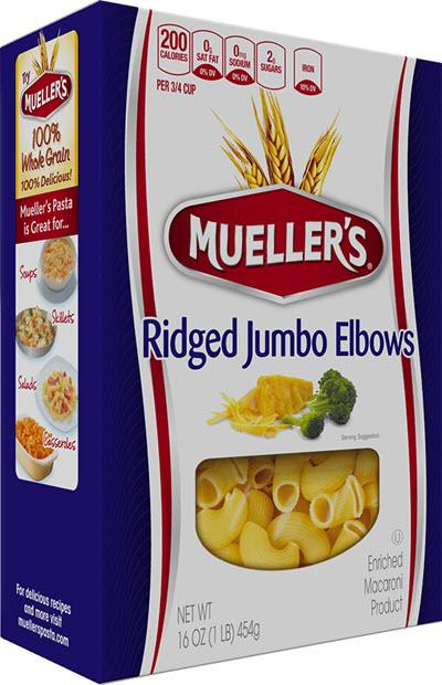 Ridged-Jumbo-Elbows 100% Semolina Ridged Jumbo Elbows