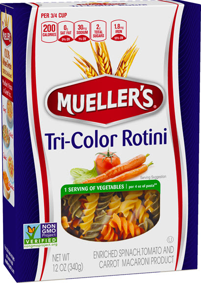 Tri-Colored-Rotini-410w 100% Semolina Tri-Color Rotini